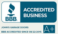 Better Business Bureau A+ Rating for John's Garage Doors