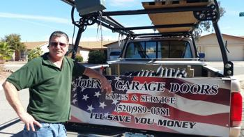 Tucson John and his well stocked truck of garage door parts